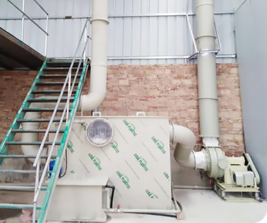 title='贵州鹭之杰新型建材3000Nm3/h方形酸雾喷淋塔:酸雾废气处理设备'