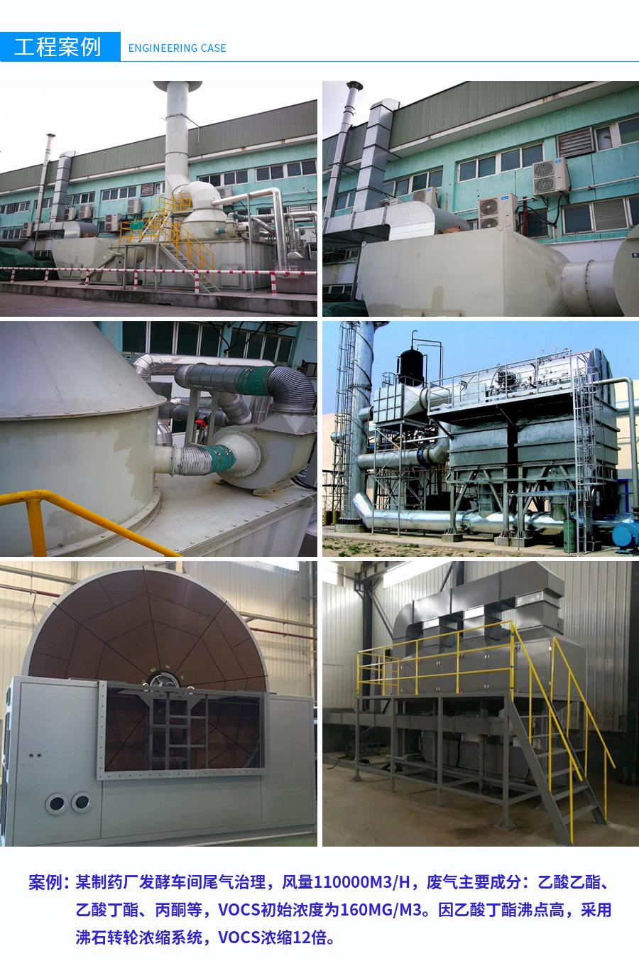 沸石转轮催化燃烧,沸石转轮浓缩+RTO燃烧系统