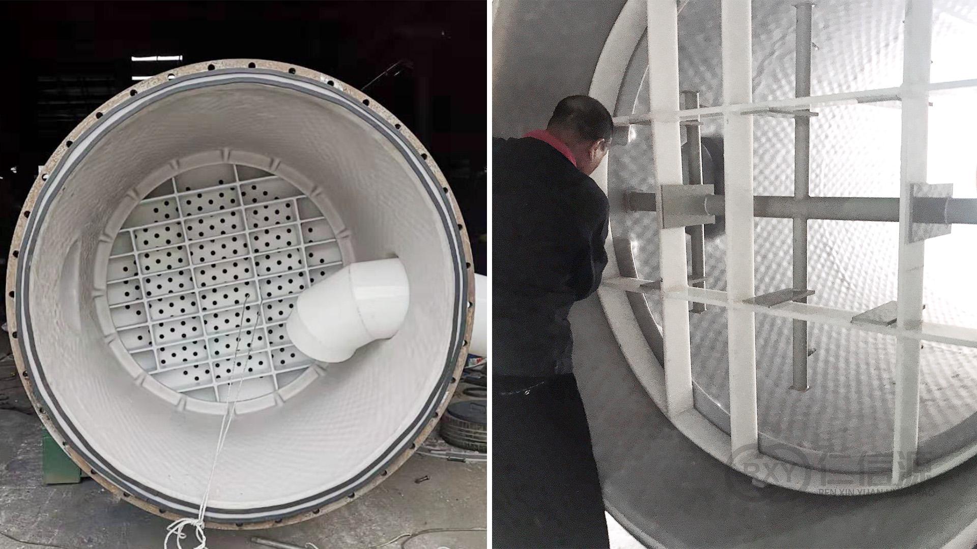 钢衬塑化学储罐